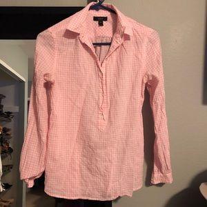 JCrew Gingham Pink Pullover